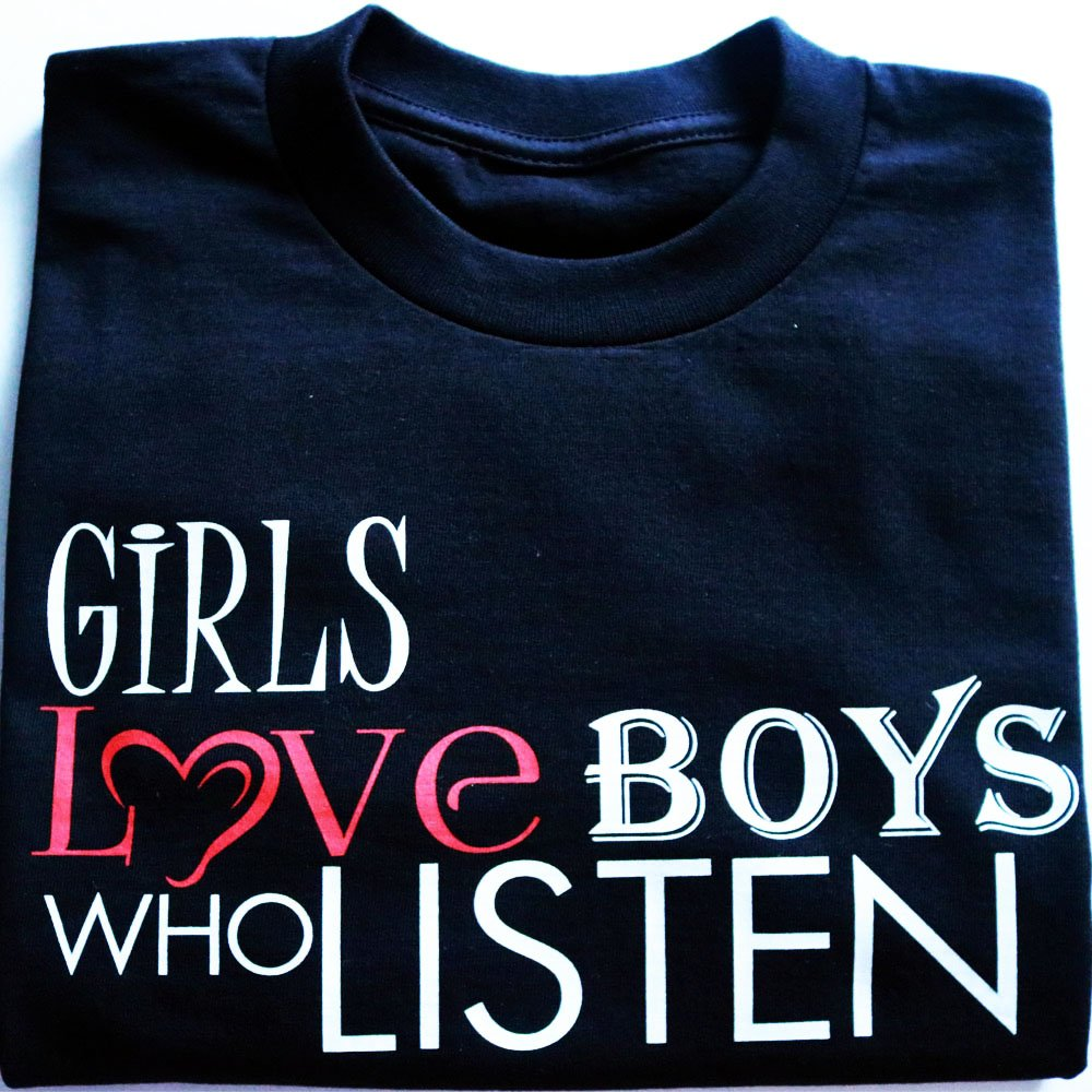 TM Hair Products Girls Love Boys How Listen- T shirt