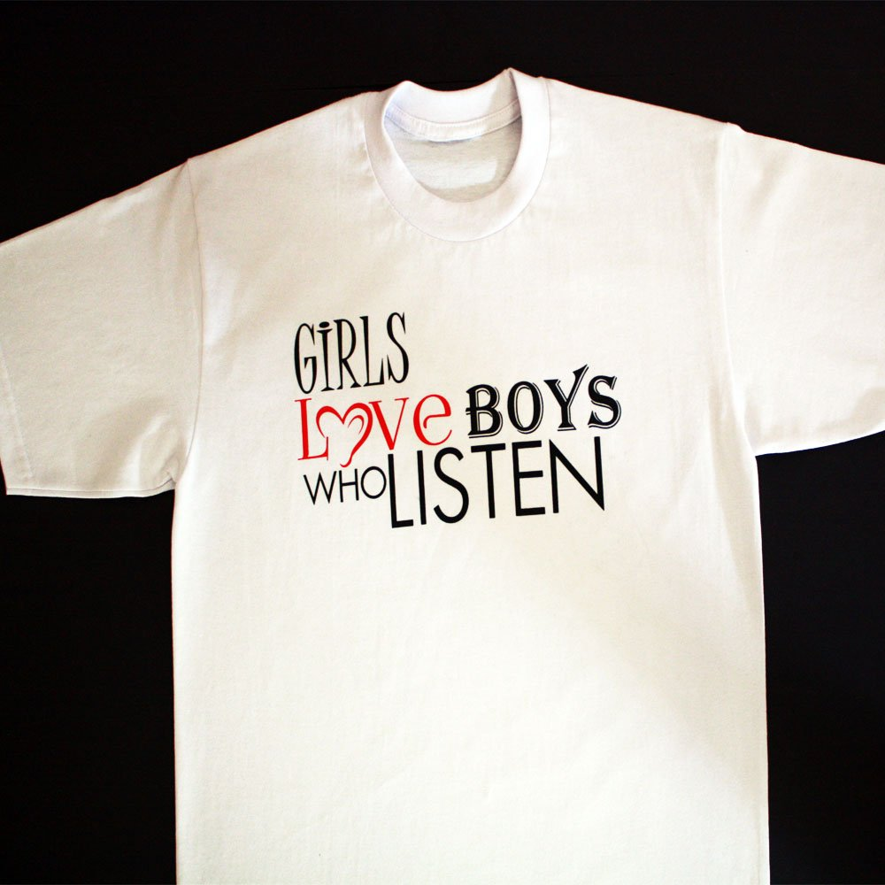 TM Hair Products-Girls Love Boys Who Listen-Tshirt
