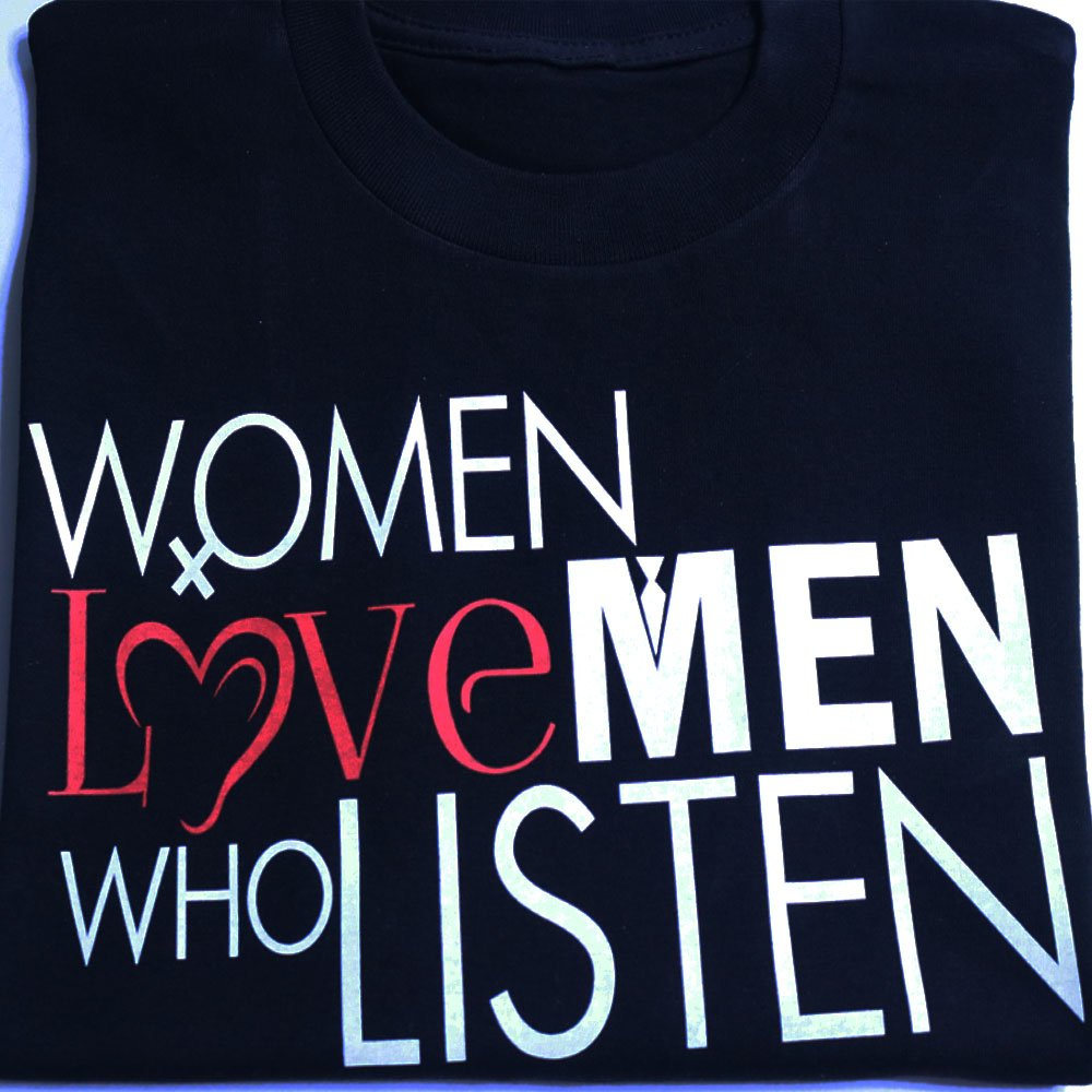 TM Hair Products-Women Love Men Who Listen-T shirt Black