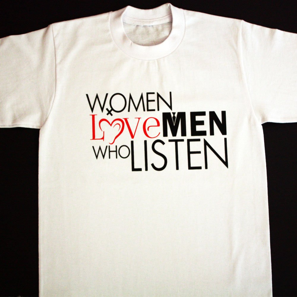 TM Hair Products-Women Love Men Who Listen-Tshirt-White